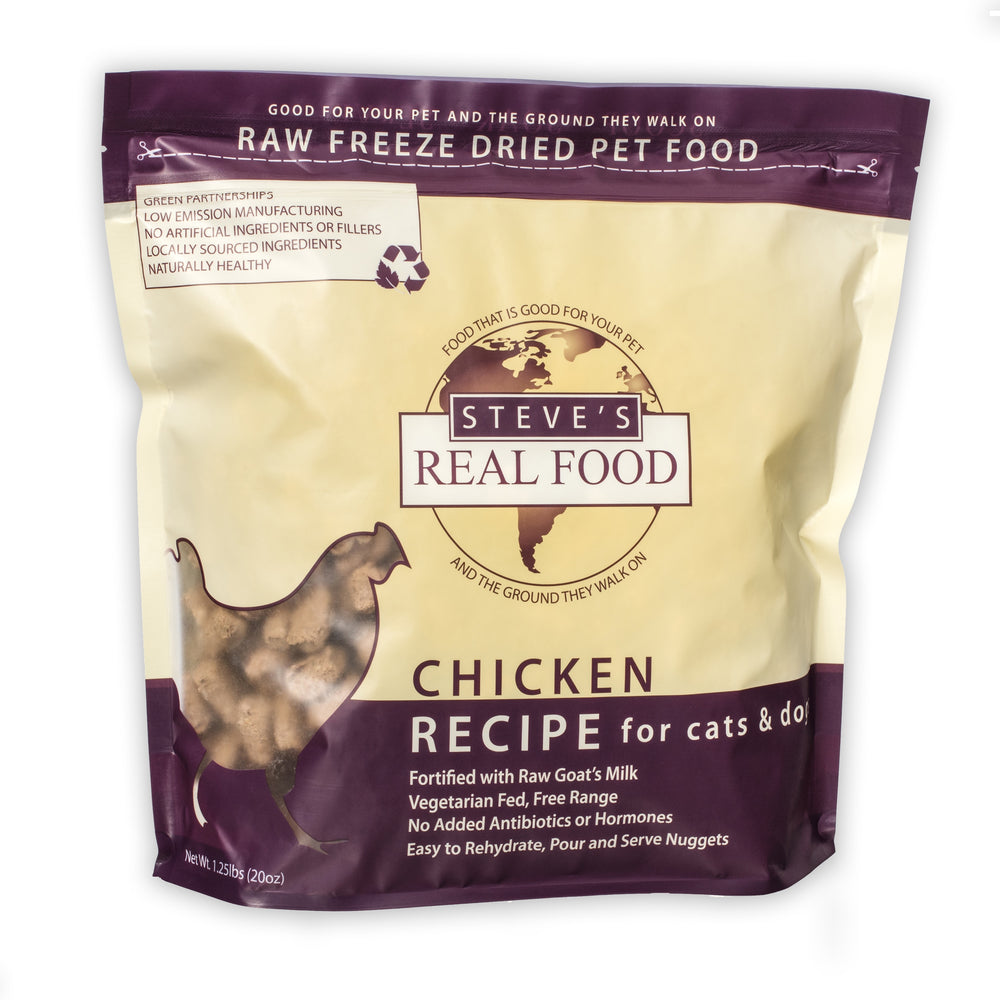 Steve's Freeze Dried Nuggets Chicken 1.25lb