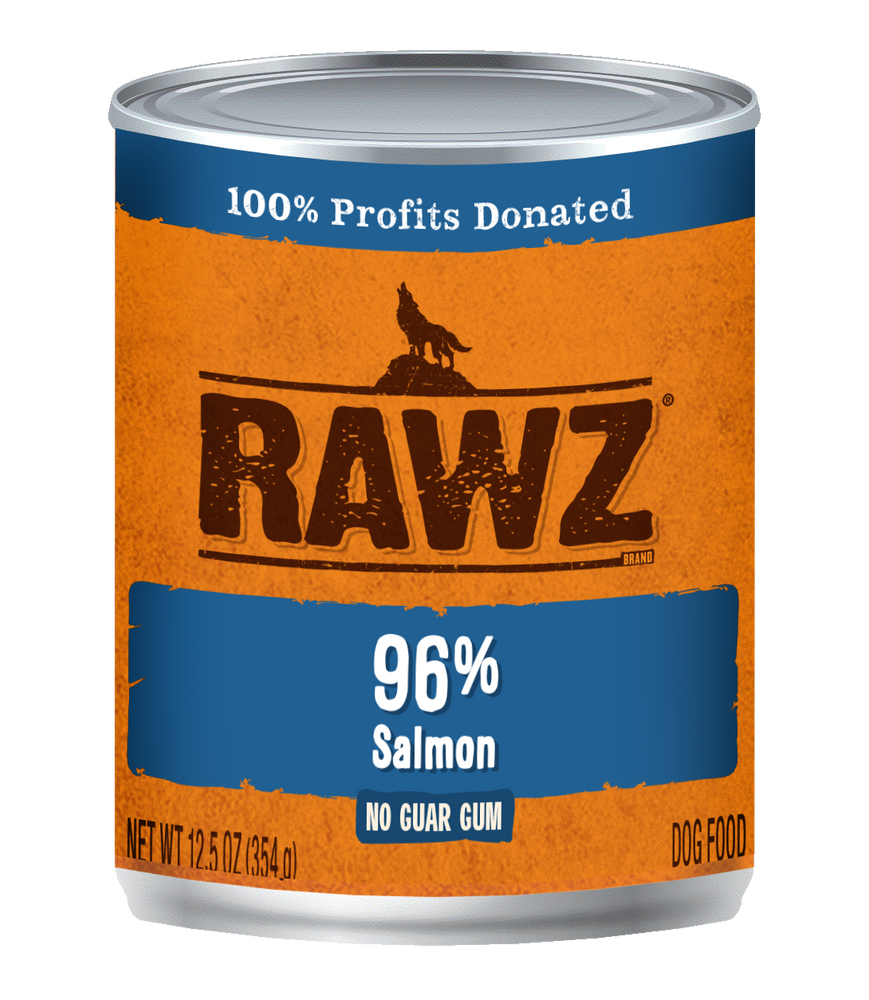 Rawz K9 Cans 96% Salmon 12.5oz
