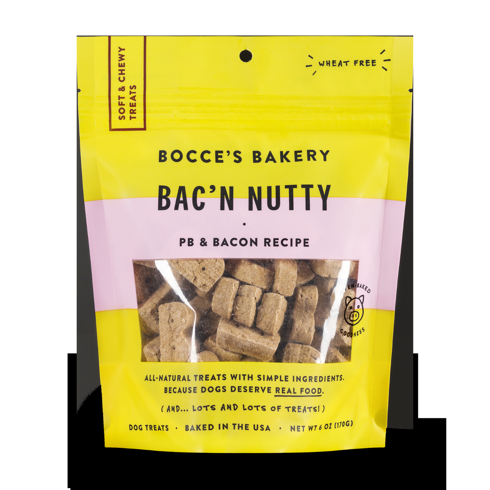 Bocces Soft and Chewy Bac'n Nutty 6oz