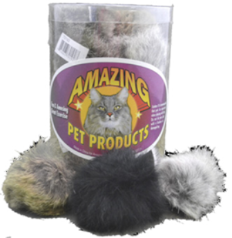 "Amazing Cat 3"" Real Fur Ball"