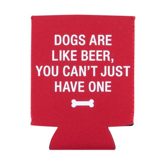 About Face Dogs Like Beer Koozie