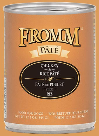 Fromm Pate K9 Cans Chicken Rice 12.2oz