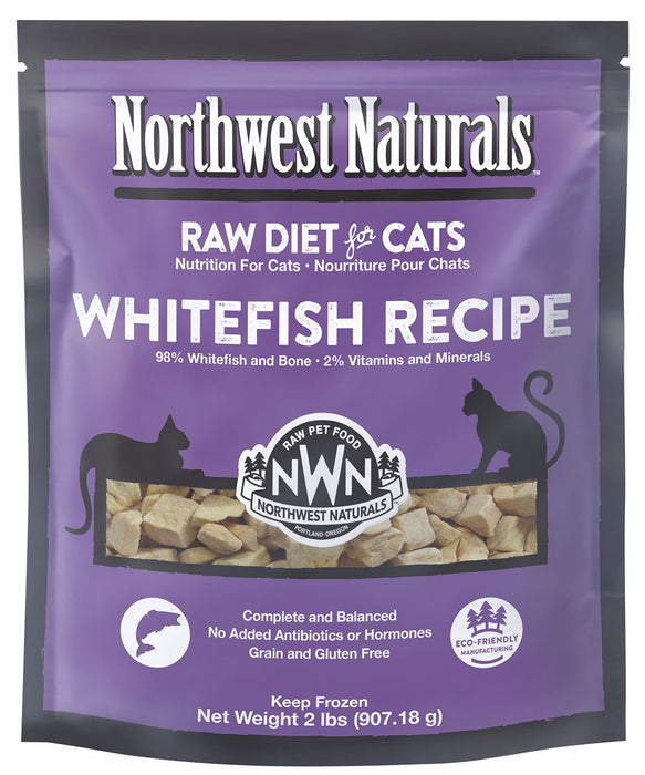 Northwest Naturals Cat Frozen Raw Nibbles Whitefish 2lb