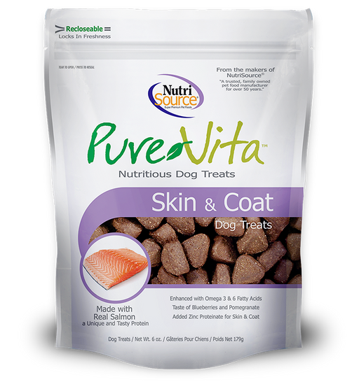 PureVita Skin Coat Dog Treat 6z
