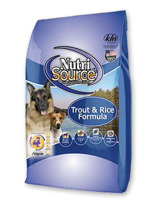 NutriSource Trout and Rice Dog