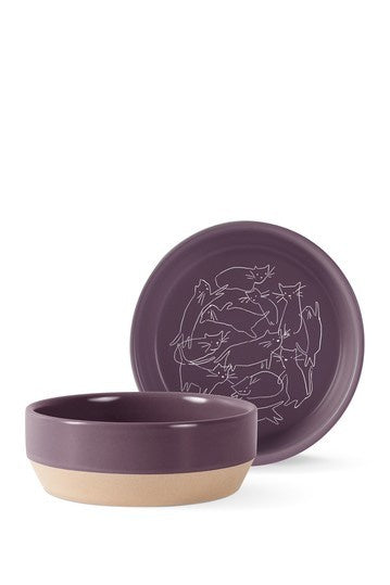 Fringe Whisker Cat Line Bowl Small