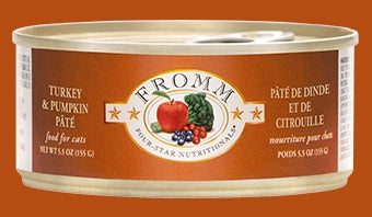 Fromm 4Star Cat Cans Turkey Pumpkin Pate 5.5oz
