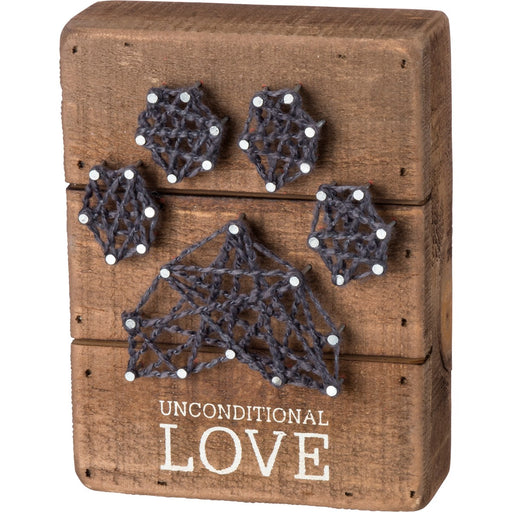 "PBK String Art Box Sign ""Unconditional Love"""