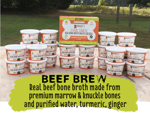 Nugget's Bone Brew Beef 4oz 4pk