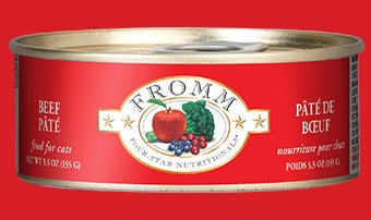 Fromm 4 Star Cat Cans Beef Pate 5.5z