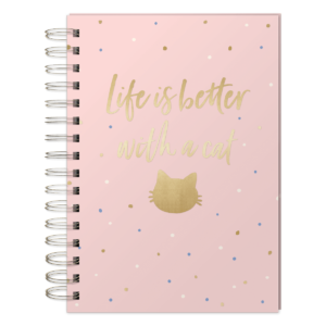 Lady Jayne Spiral Journal Life Is Better Cat