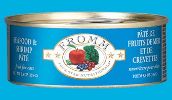 Fromm 4 Star Cat Cans Seafood Shrimp Pate 5.5oz