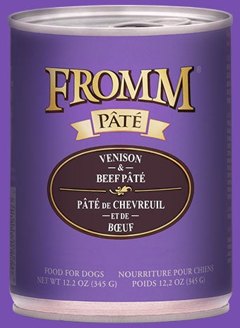 Fromm Gold K9 Cans Venison & Beef Pate 12.2z