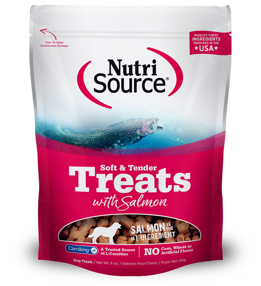 NutriSource Dog Treat Soft Tender Salmon 6oz
