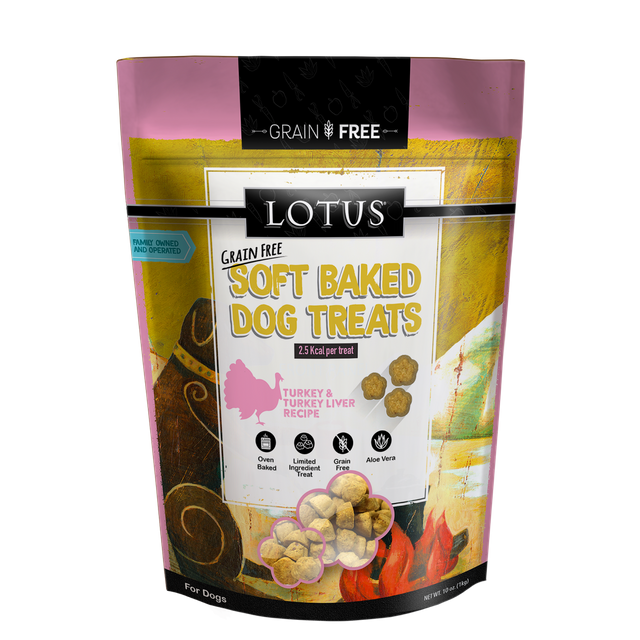 Lotus Dog Soft Baked GF Turkey Liver 10oz
