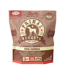 Primal Raw Pork Nugget Dog 3lb
