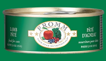 Fromm 4 Star Cat Cans Lamb Pate 5.5oz