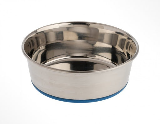 OurPets Rubber Bonded Stainless Bowl 2qt