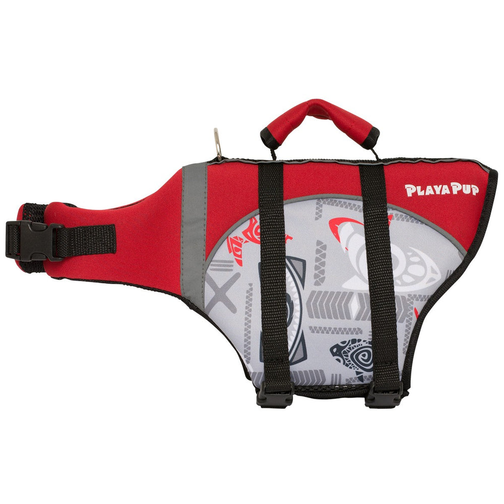 Playa Pup Life Vest Tribal Shark Falcon Red