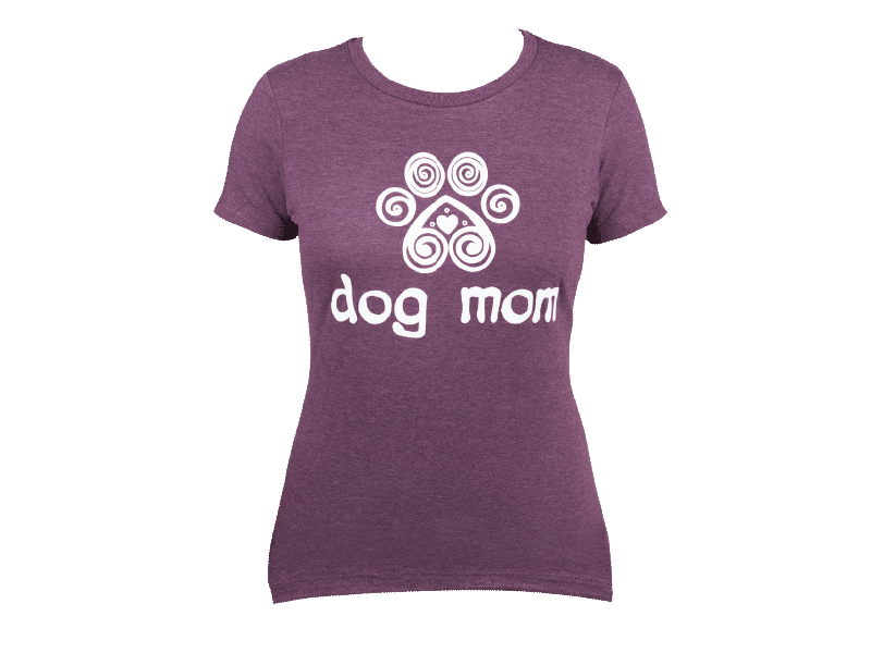 Dog Speak Dog Mom Tee Shirt Purple