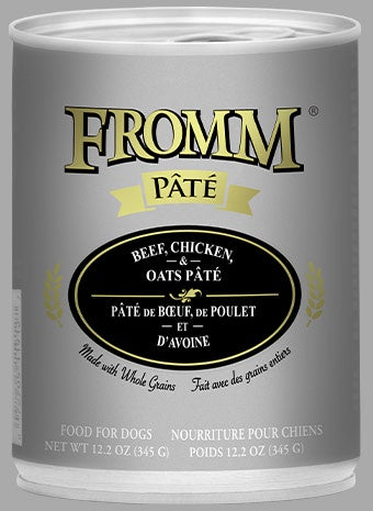 Fromm K9 Cans Pate Beef Chicken & Oats 12.2oz