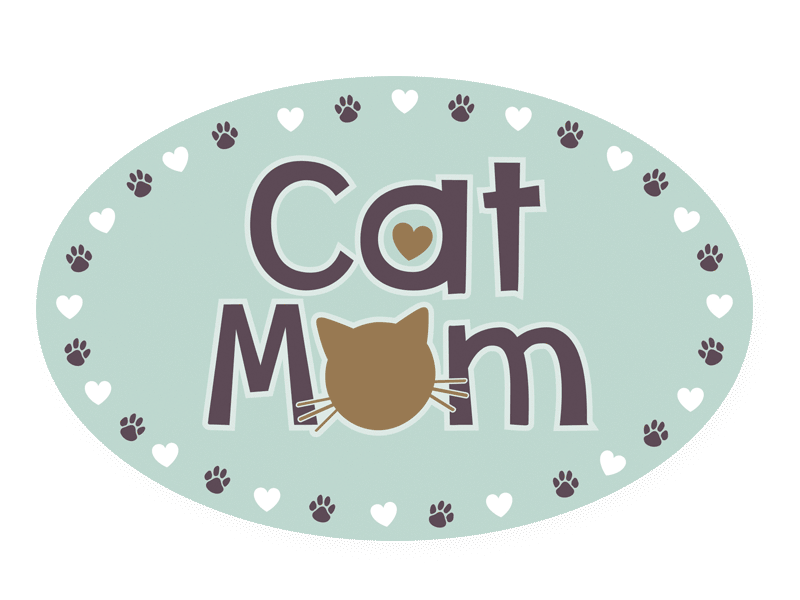 Dog Speak Oval Magnet Cat Mom