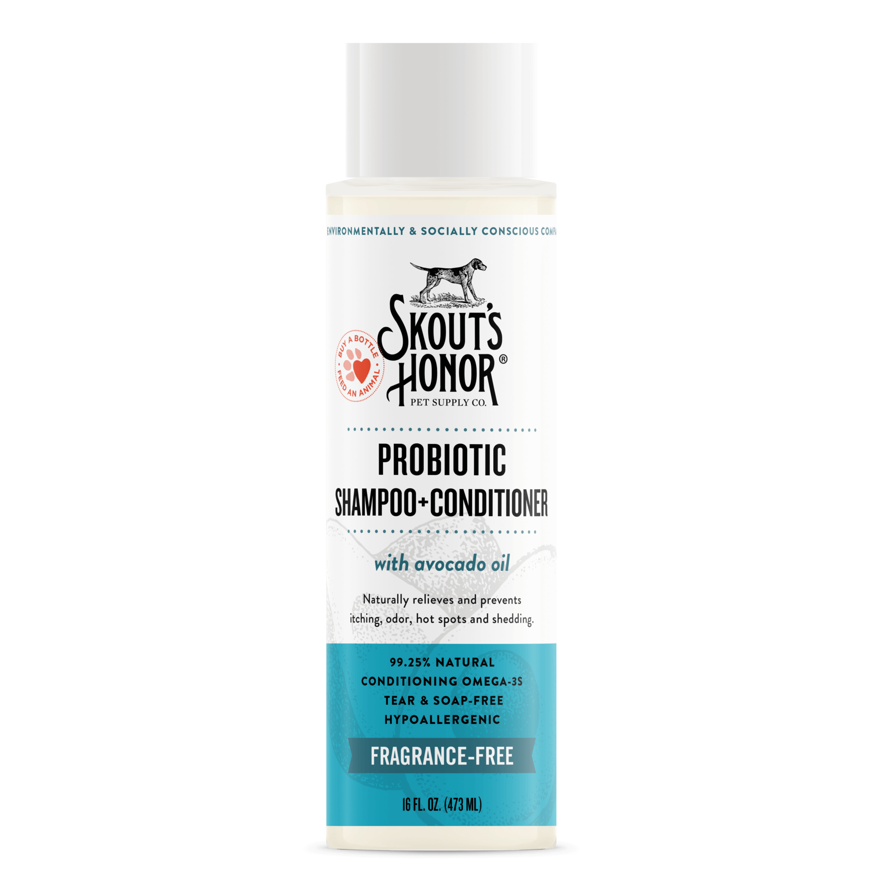 Skout's Honor Shampoo/Conditioner Unscented 16oz