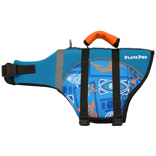 Playa Pup Life Vest Tribal Shark Night Blue