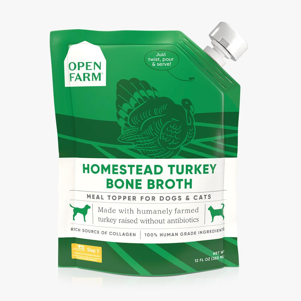 Open Farm Homestead Turkey Bone Broth 12oz