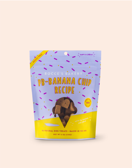 Bocces Soft and Chewy PB-Banana Chip 6oz