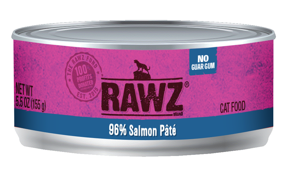 Rawz Cat Cans 96% Salmon 5.5oz