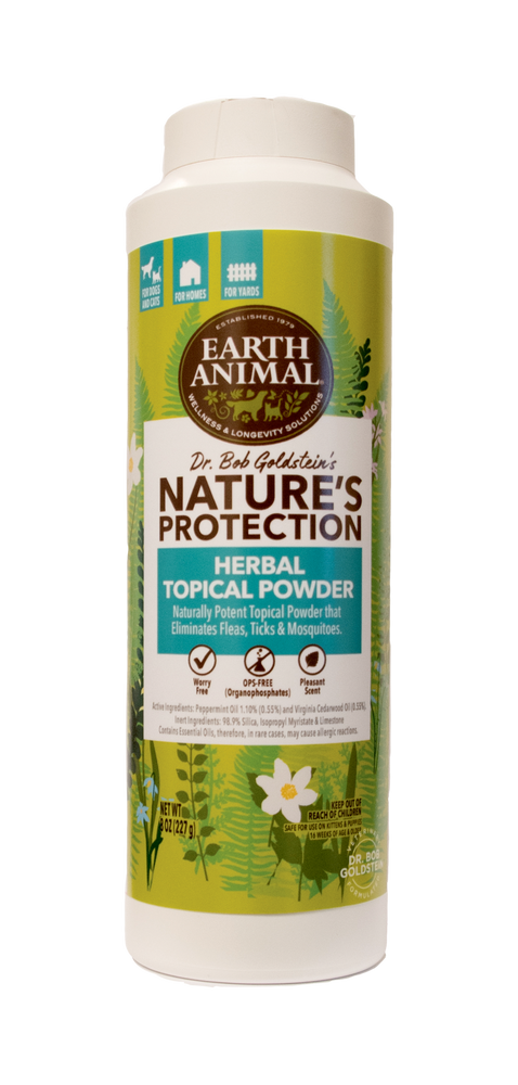 Earth Animal Flea & Tick Herbal Topical Powder 8oz