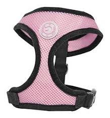 Gooby Soft Mesh Harness Pink