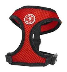 Gooby Soft Mesh Harness Red