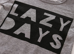 Baby Long-Sleeved 'Lazy Day' T-shirt & Pants Set