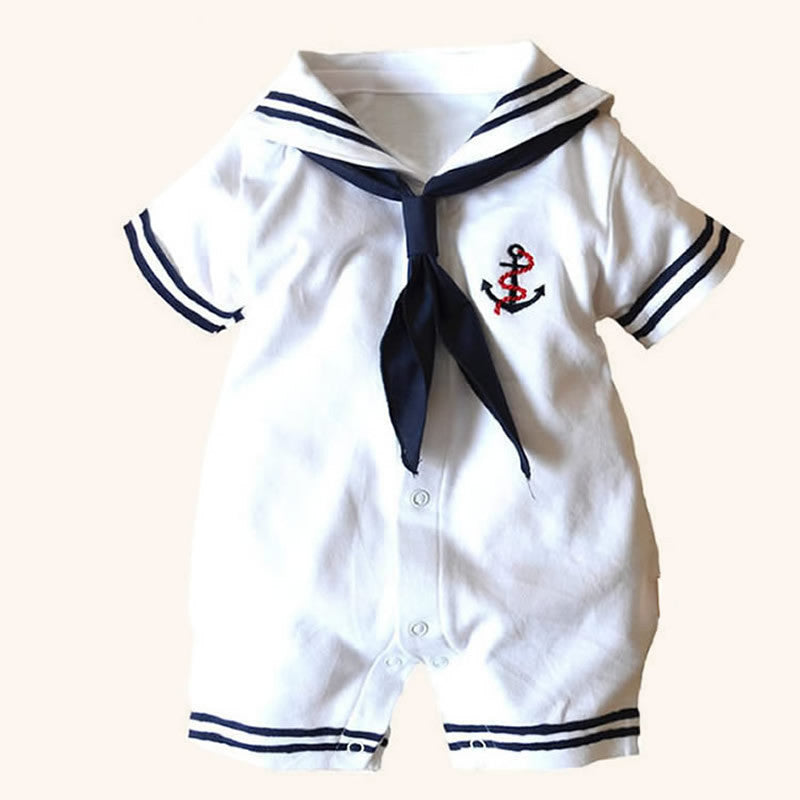 Navy Sailor Newborn/Baby Uniform Romper