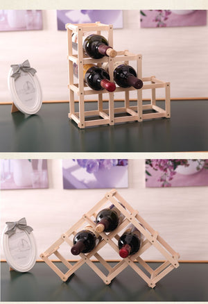 Foldable Wooden Wine Rack