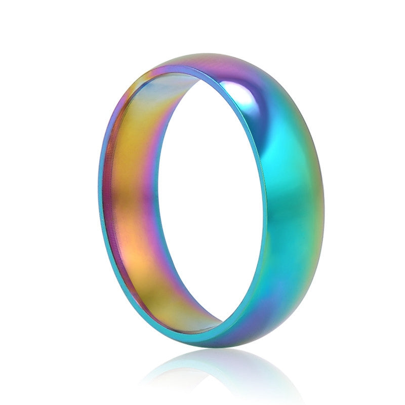 Colors of the Ocean Stainless Steel Ring