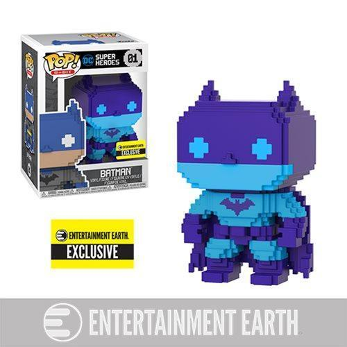 8-Bit Batman (Purple) Entertainment Earth Exclusive Funko Pop! Vinyl-The Nerdy Byrd