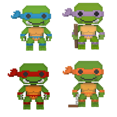 8-Bit Teenage Mutant Ninja Turtles Funko Pop! Vinyl (Multiple Choice)-The Nerdy Byrd
