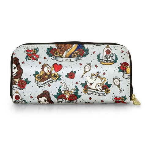 Belle (Beauty and the Beast) Tattoo AOP Loungefly Wallet-The Nerdy Byrd