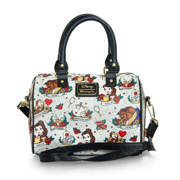 Belle (Beauty & The Beast) Tattoo AOP Loungefly Tote Bag-The Nerdy Byrd