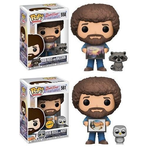 Bob Ross and Raccoon/Hoot Funko Pop! Vinyl-The Nerdy Byrd