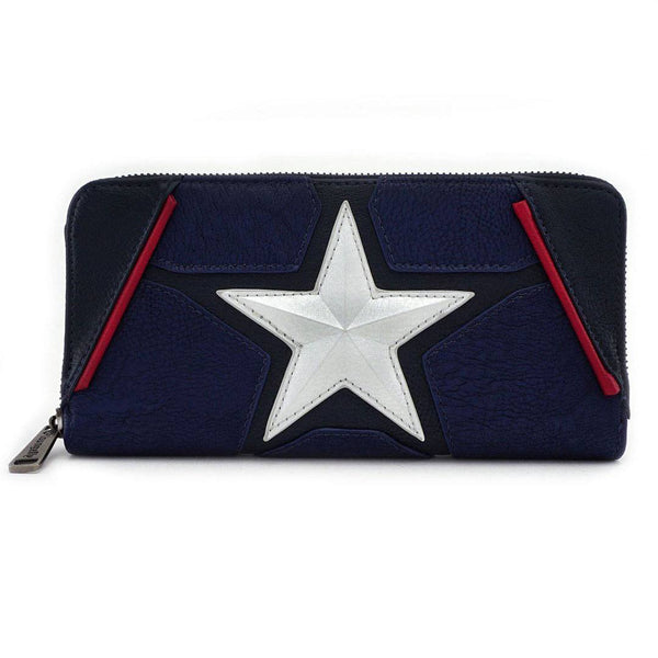 Captain America Marvel Loungefly Wallet-The Nerdy Byrd