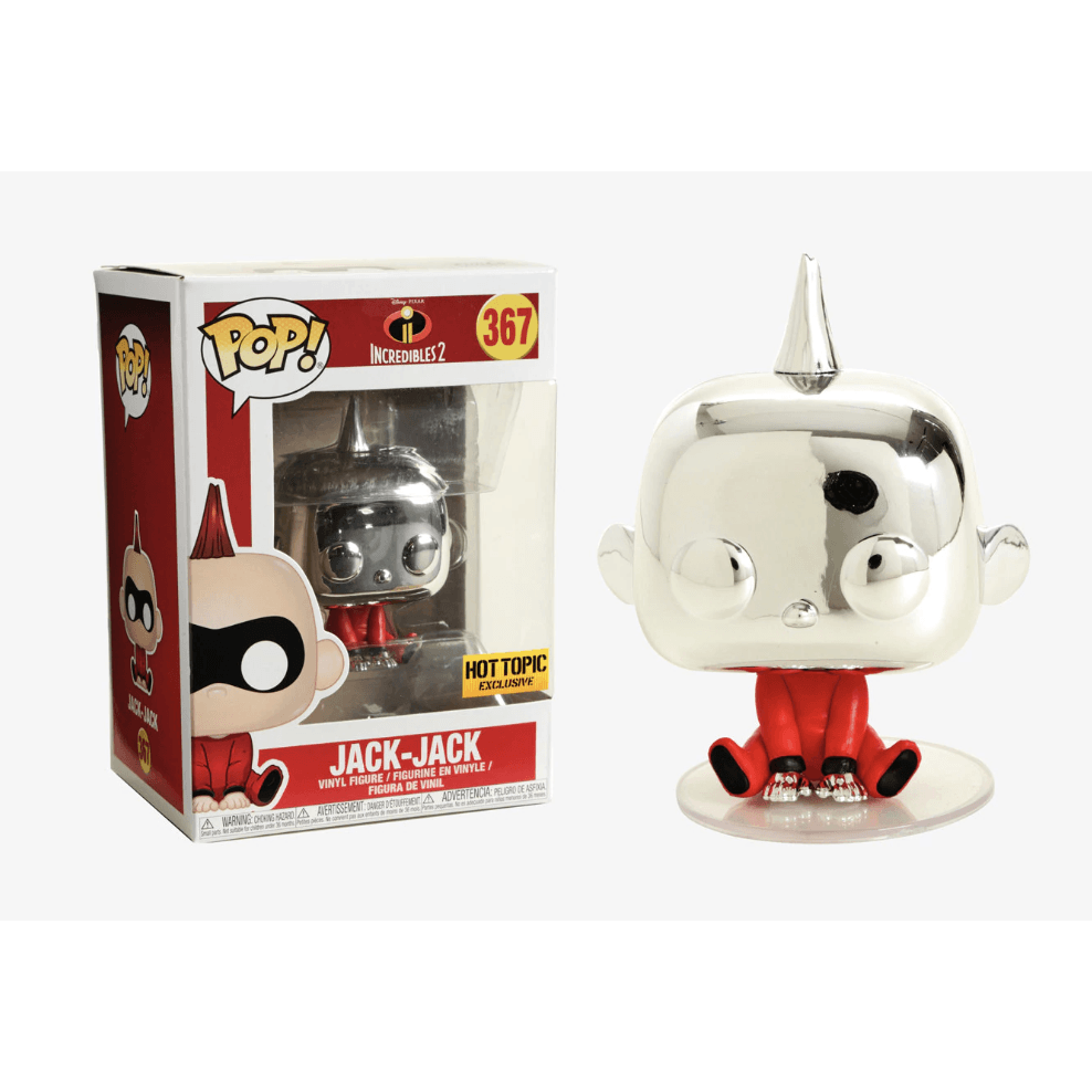 Chrome Jack-Jack Incredibles Hot Topic Exclusive Funko Pop! Vinyl-The Nerdy Byrd