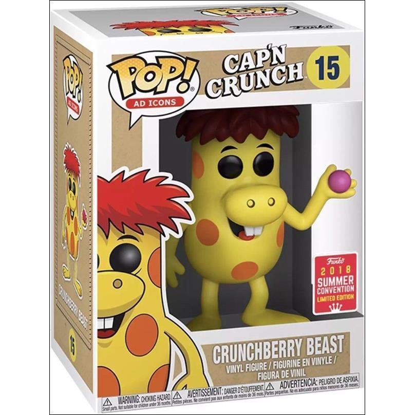 Crunchberry Beast Cap'n Crunch SDCC 2018 Exclusive Funko Pop! Vinyl-The Nerdy Byrd