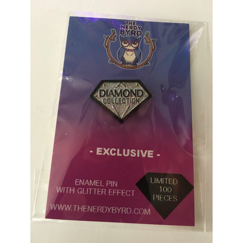 .Diamond Collection Nerdy Byrd Exclusive Enamel Pin (Glitter Effect)-The Nerdy Byrd
