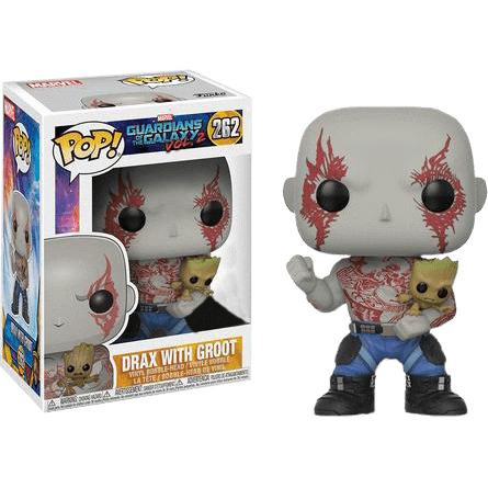 Drax with Groot Guardians of the Galaxy 2 Funko Pop! Vinyl Exclusive-The Nerdy Byrd