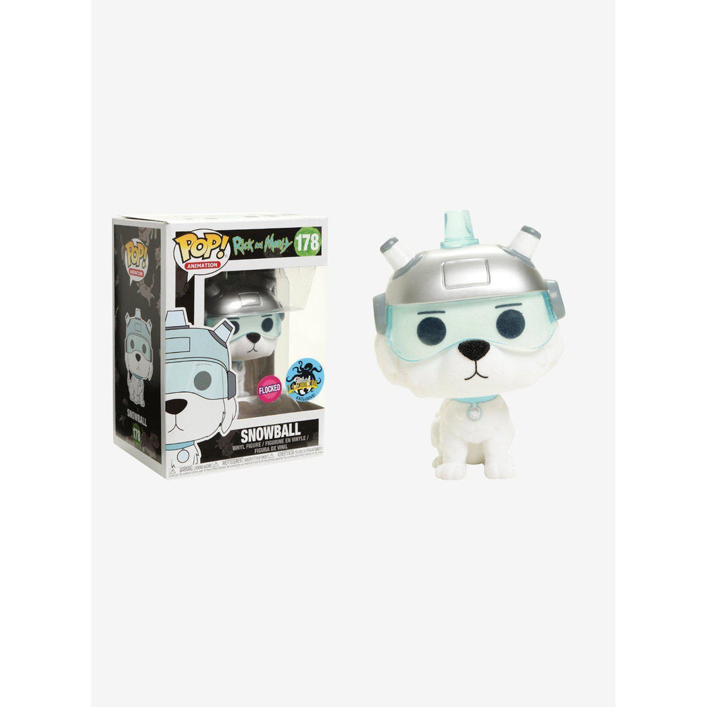 Flocked Snowball Rick & Morty Exclusive Funko Pop! Vinyl-The Nerdy Byrd