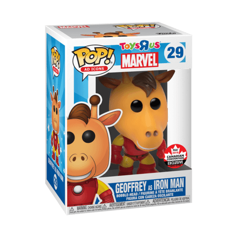 Geoffrey the Giraffe as Iron Man Canadian Expo Exclusive Funko Pop! Vinyl-The Nerdy Byrd